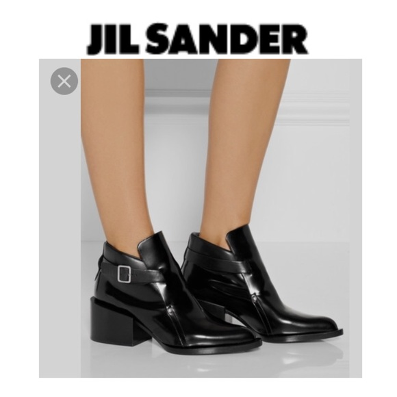 fecddfc1e51a Jil Sander Shoes - Jil sander Kent leather ankle booties