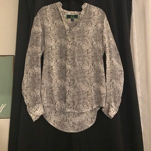 Tops - Silk snake print blouse