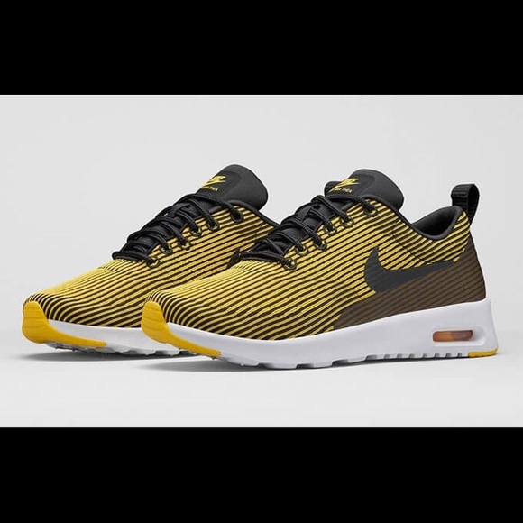 180220c7ba Nike Shoes | New Air Max Thea Yellow Stripes | Poshmark