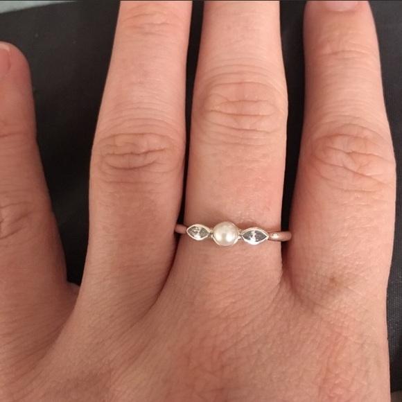 f28aac8ee Pandora Jewelry | Petite Luminous Leaves Ring Size 56 | Poshmark