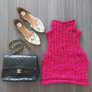 Anthropologie pink sleeveless sweater