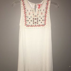 White overlay dress