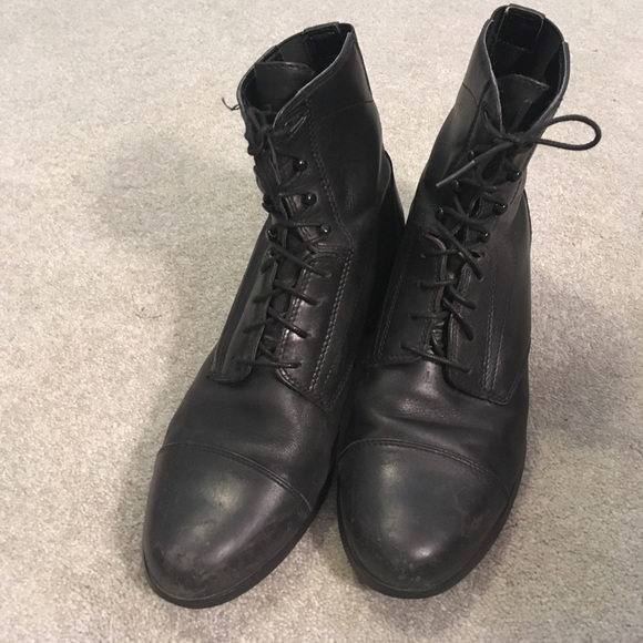654a4a08cf4bef Ariat Shoes - Ariat Scout Paddock Black Lace Boots Size 11m