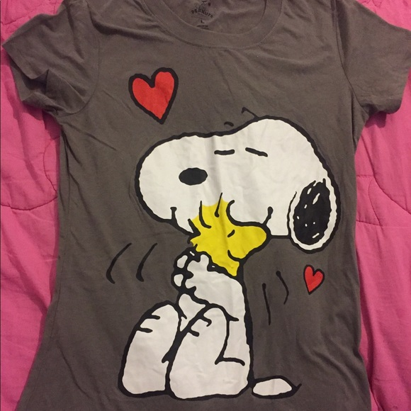 521d26d3a9f379 Peanuts Shirts & Tops | Snoopy And Woodstock Girls Short Sleeve ...