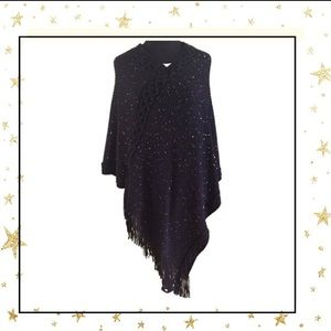 Sweaters - Black Poncho