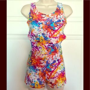 Dresses & Skirts - Met Gala Colorful Art Paint Splash Romper