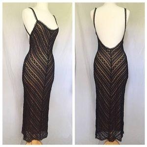 Stunning Vintage Black Lace Dress
