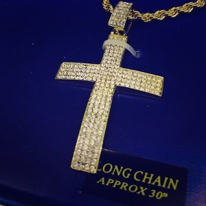 """Jewelry - 24"""" & 30"""" His & Her Cross Necklace Set"""