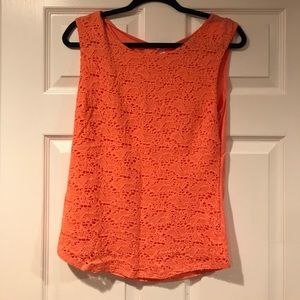 Crochet front shell