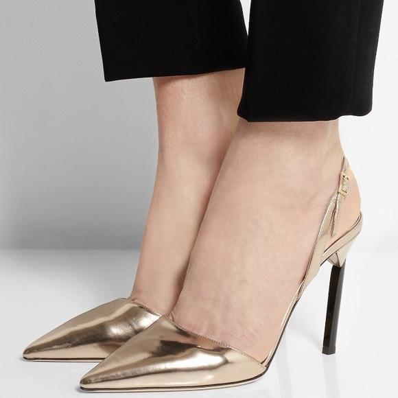 4ef2d31d06 Jimmy Choo Shoes | Rose Gold Leather Pumps Size 85385 | Poshmark