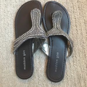Madden Girl Beaded Sandals - Alyssa