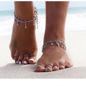 Jewelry - Vintage Flower Ankle Bracelet