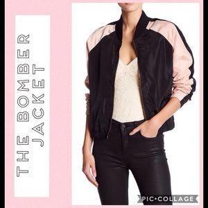 Free Press Jackets & Coats - Blush & Black Bomber Style Jacket sz Large