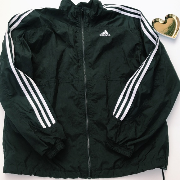 14b2260073bf adidas Jackets   Blazers - Vintage Adidas Black   White Windbreaker Jacket
