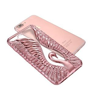 Accessories - iPhone 6+ Bling Soft TPU Swan Peacock Case Shell