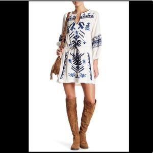 NEW $168 FP Embroidered Anouk Emblem Mini Dress