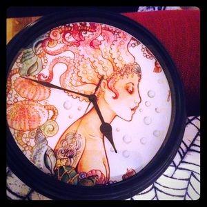 Accessories - Mermaid,treasure sea life clock