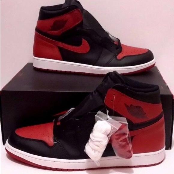 2aed58814eb Jordan Shoes   1 Retro I High Og Banned Bred Blackred   Poshmark