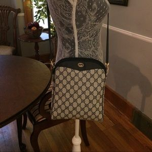 Handbags - Authentic Gucci Navy Handbag
