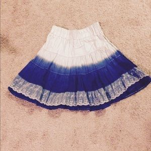 Dresses & Skirts - NWT ombré light blue blue lace skirt