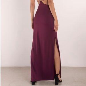 07af83957a5 Tobi Dresses - Tobi Timeless Strappy Back Maxi Dress Wine Color