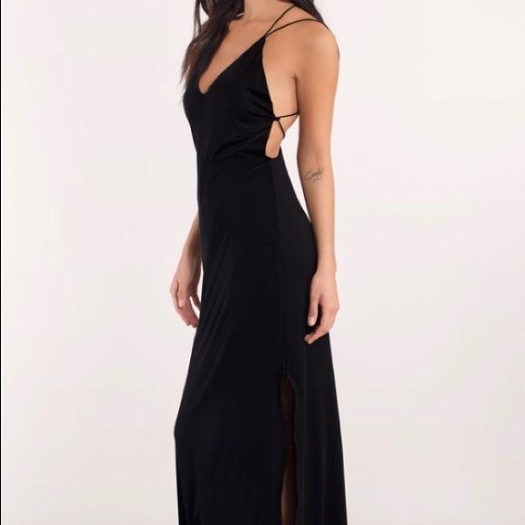 fcec1c5f80e Tobi Timeless Strappy Back Maxi Dress Black Color