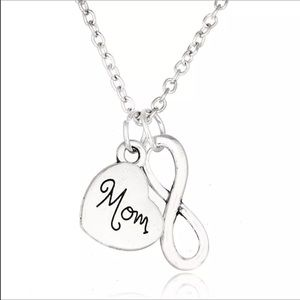 Jewelry - Silver plated Mom infinity necklace new in bag