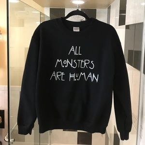 "Tops - Shop Nylon ""All Monsters Are Human"" Sweatshirt M"