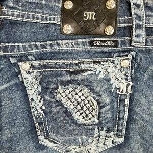 ❤Miss Me Denim Jeans Rhinestone bootcut 28-34 NEW