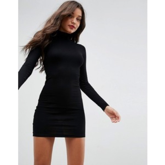 Black Sweater Mini Dress