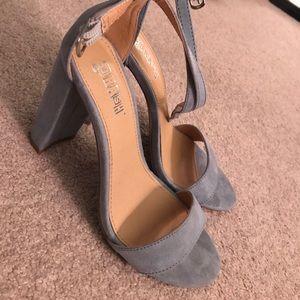 Shoes - Super cute felt light blue heels!
