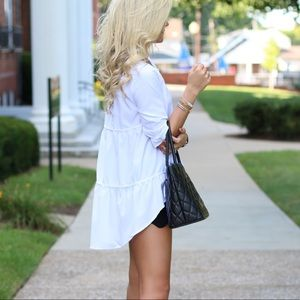 Tops - White High, Low Blouse