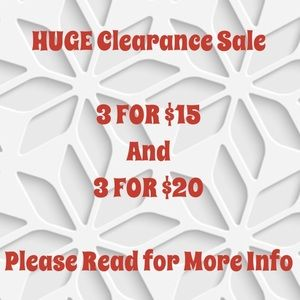 Tops - Items listed in Clearance Section
