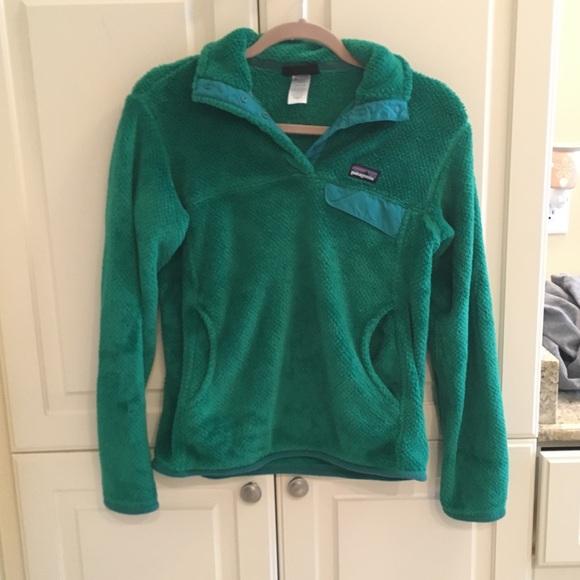 1fa7a272 Patagonia Tops | Emerald Green Womens Sweatshirt | Poshmark