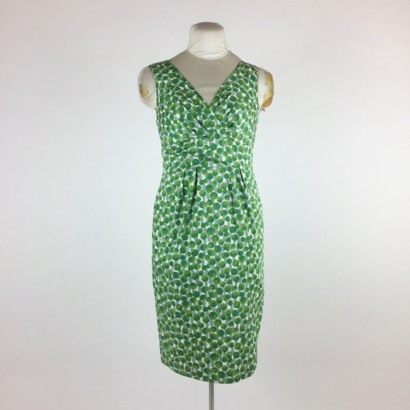 5f95c841a99 Boden Dresses   Skirts - Boden Green Polka Dot Dress Wrap Front Lined