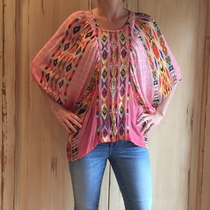 Anthropologie Tanvi Kedia Printed & Beaded Blouse