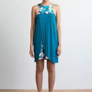 ten tomorrow | Yasmin tulip dress in teal | size m