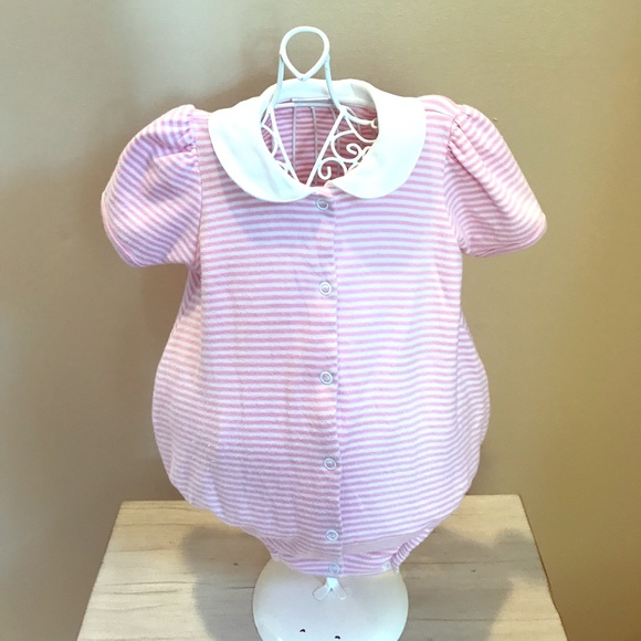 Squiggles By Charlie One Pieces Baby Girls Pink White Bubble