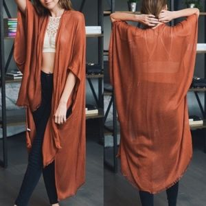 ALYSSA Cover up/Shawl - BURNT ORANGE