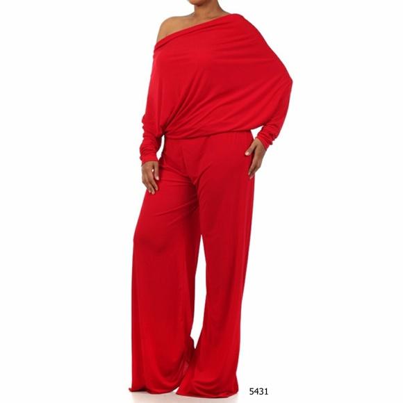 9169081f33d Plus Size Red Multi Way Women s Cocktail Jumpsuit