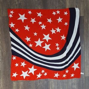 Red White Blue Star Symphony Scarf