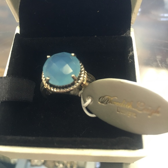 gold rings aqua ring vermeil size pin chalcedony jewel and