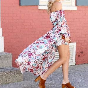 Other - Floral Maxi Romper