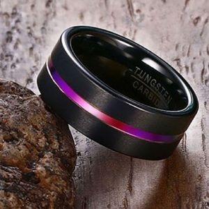 Jewelry - Stainless steel titanium black tungsten carbide