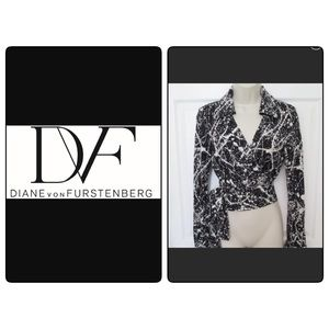 Diane Von Furstenberg Julie Silk Wrap Top 8 M
