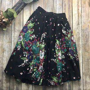 Dresses & Skirts - 🎈 1950's VintageStyle Flowing Black Painted Skirt