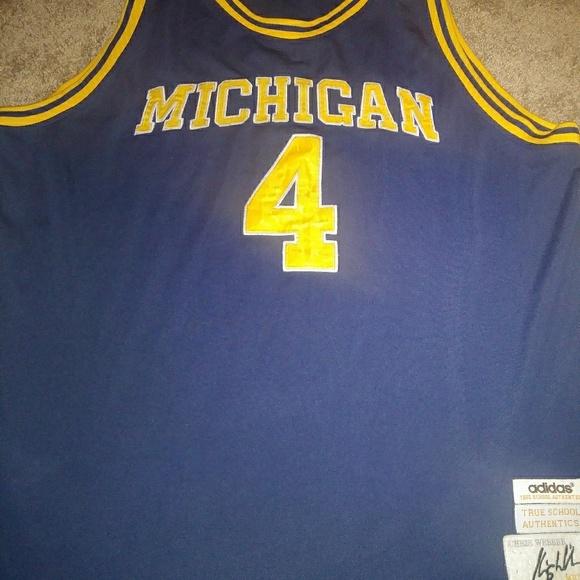newest 2f1b5 b8af0 Chris webber Michigan jersey