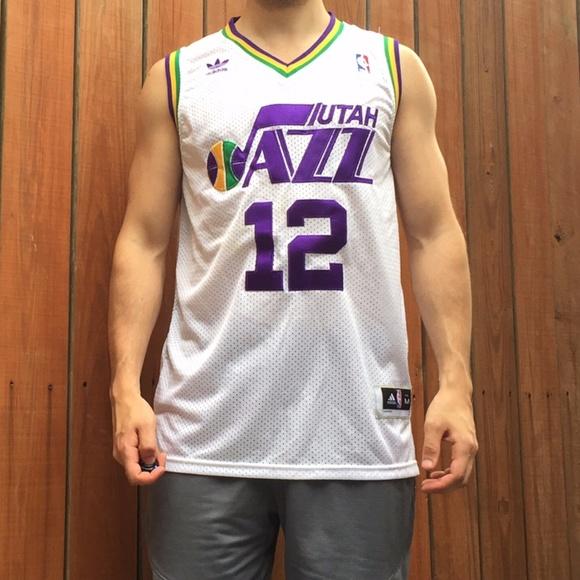 30416097d adidas Shirts | White John Stockton Utah Jazz Jersey | Poshmark