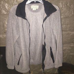 Grey, wool, zip up Colorado Timberline jacket