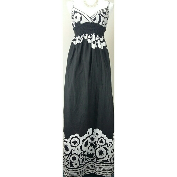 bf9ab866ac7 RHAPSODY black and light gray maxi dress S